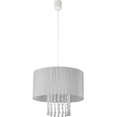 Lampex Wenecja lampa wisząca 1x60W biała/popiel 153/1POP