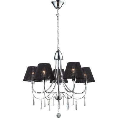 Lampex Elsa lampa wisząca 5x40W czarna/srebrna 171/5