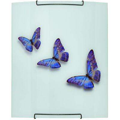Lampex Farfalla plafon 2x40W biały 467/P1