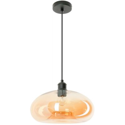 Lampex Adonis lampa wisząca 1x60W bursztyn/czarny 767/1