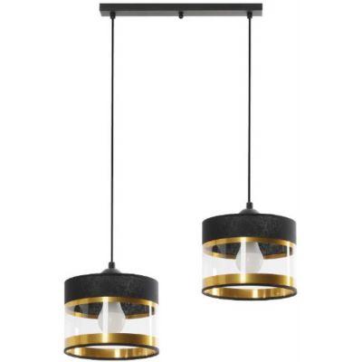 Lampex Elia lampa wisząca 2x40W czarna 855/2L