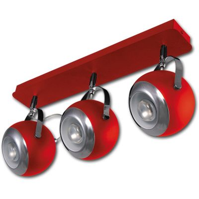 Lis Poland Scotti lampa podsufitowa 3x40W czerwona 4464PLH04