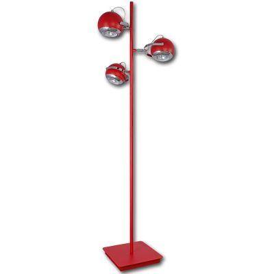 Lis Poland Scotti lampa stojąca 3x40W czerwona 4468PH04