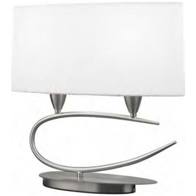 Mantra Lua lampa biurkowa 2x20W chrom/biały 3703