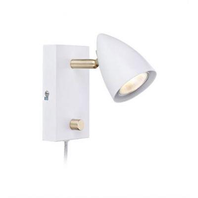Markslöjd Ciro kinkiet 1x35W biały/złoto szczotkowane 106317
