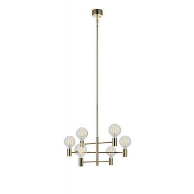 Markslöjd Capital lampa wisząca 6x60W mosiądz 106418