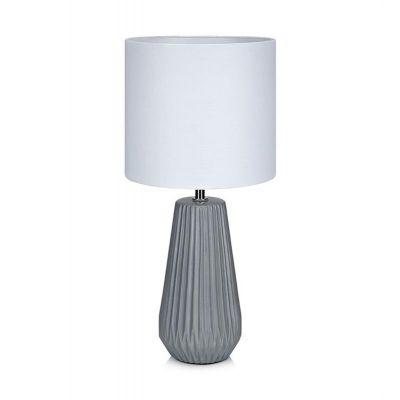 Markslöjd Nicci lampa stołowa 1x40W szary/biały 106449