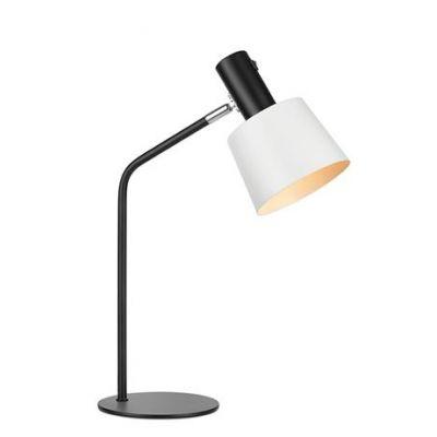 Markslöjd Bodega lampa biurkowa 1x60W czarny/biały 107217