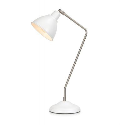 Markslöjd Coast lampa biurkowa 1x60W biały/stal 107309