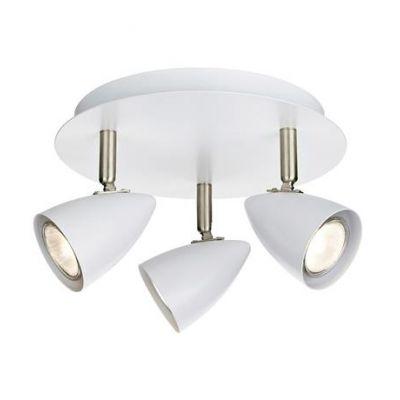 Markslöjd Ciro lampa podsufitowa 3x7W biały/stal 107412
