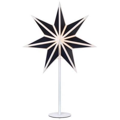 Markslöjd Adele lampa stołowa dekoracyjna 1x25W czarny/biały 704868