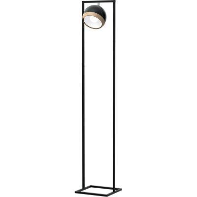 Milagro Oval Black lampa stojąca 1x60W czarna MLP5475