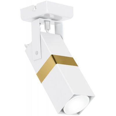 Milagro Vidar lampa podsufitowa 1x8W biało/złota MLP6273