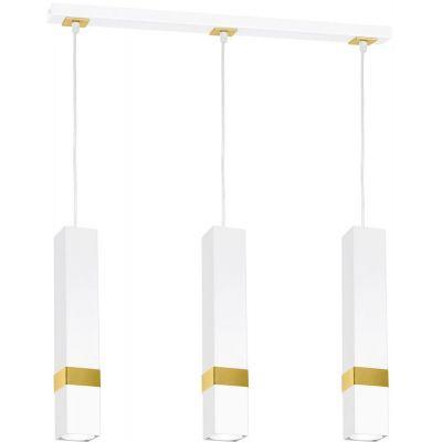Milagro Vidar lampa wisząca 3x8W biało/złota MLP6276