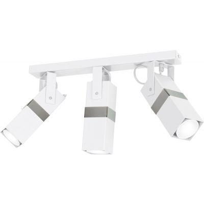 Milagro Vidar lampa podsufitowa 3x8W biała/chrom MLP6282