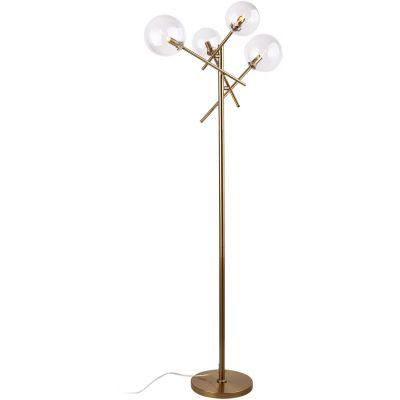 MaxLight Lollipop lampa stojąca 4x40W mosiądz F0042