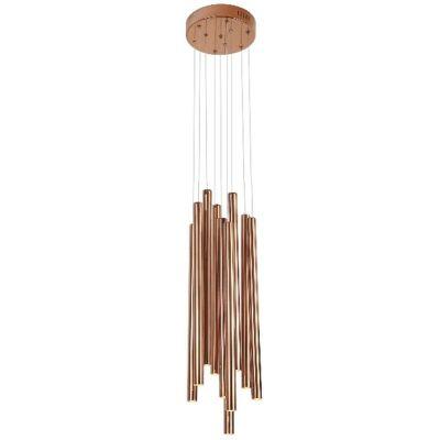 MaxLight Organic Copper lampa wisząca 10x1W miedziana P0205