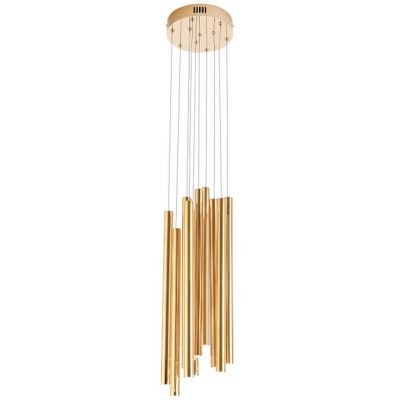 MaxLight Organic Copper lampa wisząca 10x1W złota P0265