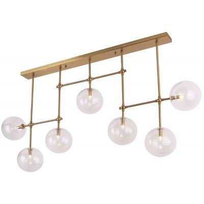 MaxLight Lollipop lampa wisząca 7x40W mosiądz P0295