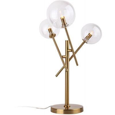 MaxLight Lollipop lampa stołowa 3x40W mosiądz T0035