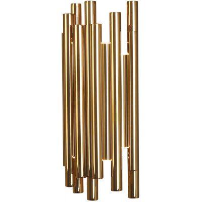 MaxLight Organic Copper kinkiet 8x1W złoty W0187