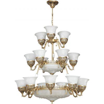 Nowodvorski Lighting Korynt XXIV lampa wisząca 24x60W złoty/biały 3374