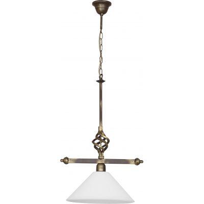 Nowodvorski Lighting Cora I lampa wisząca 1x60W mosiądz/biały 4745