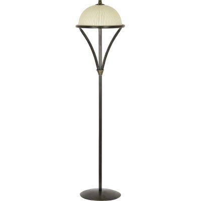 Nowodvorski Lighting Baron III lampa stojąca 3x60W ciemny mosiądz/beż 4997