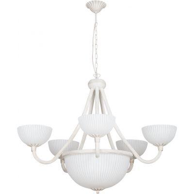 Nowodvorski Lighting Baron White VIII lampa wisząca 8x60W biała 5997