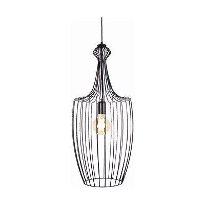 Nowodvorski Lighting Luksor L lampa wisząca 1x60W czarna 8847