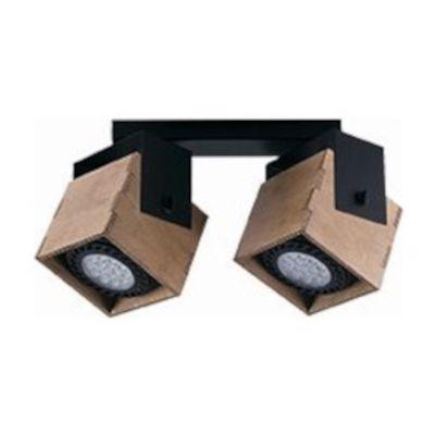 Nowodvorski Lighting Wezen II lampa podsufitowa 2x35W drewno/czarny 9038