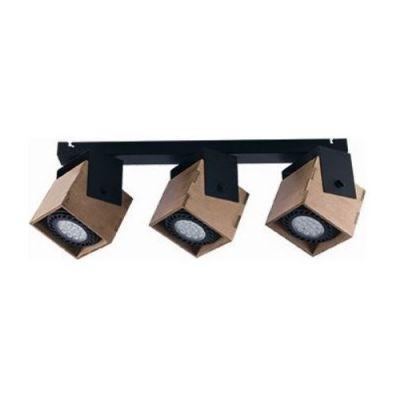 Nowodvorski Lighting Wezen III lampa podsufitowa 3x35W drewno/czarny 9040
