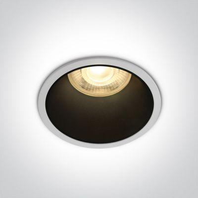 One Light Alewga lampa do zabudowy 1x50W biały/czarny 10105AD/W