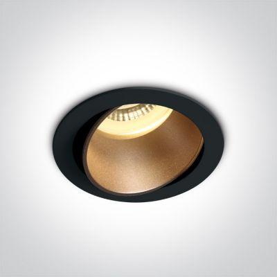 One Light Vitali lampa do zabudowy 1x10W czarny/mosiądz 11105M/B/BS
