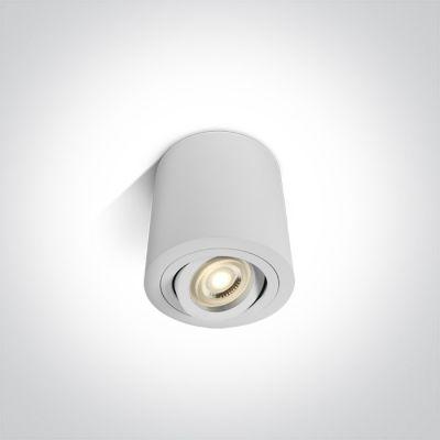 One Light Krokos lampa podsufitowa 1x10W biała 12105AB/W