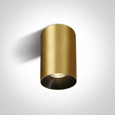 One Light Mistra lampa podsufitowa 1x10W mosiądz szczotkowany 12105M/BBS