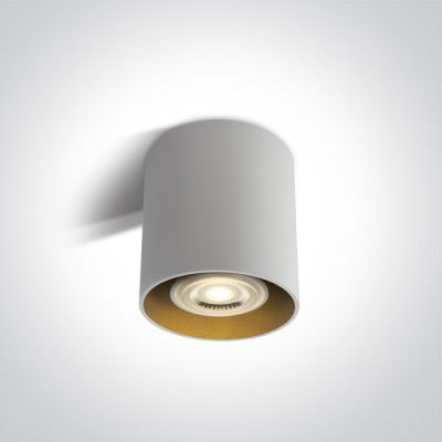 One Light Roda lampa podsufitowa 1x10W biały/mosiądz 12105T/W