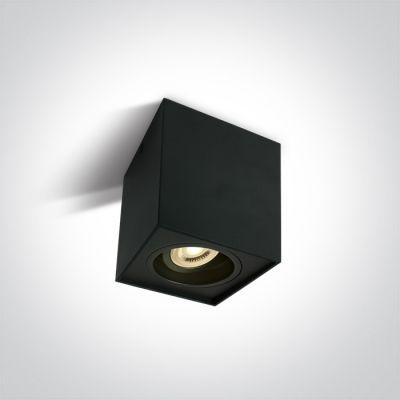 One Light Karlowasi lampa podsufitowa 1x10W czarna 12105YA/B