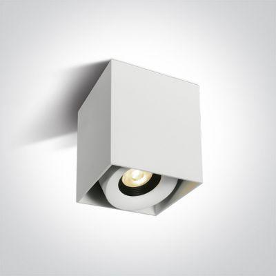 One Light Samarina lampa podsufitowa 1x8W biały/czarny 12108XA/W/W