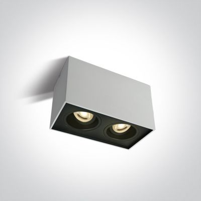 One Light Karlowasi lampa podsufitowa 2x10W biały/czarny 12205YA/W