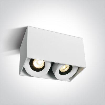 One Light Samarina lampa podsufitowa 2x8W biały/czarny 12208XA/W/W