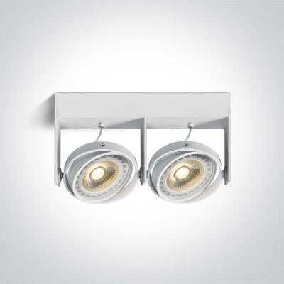 One Light Kodra lampa podsufitowa 2x75W biała 62210B/W