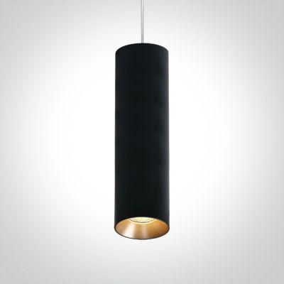 One Light Zaimi lampa wisząca 1x10W czarna 63105MA/B