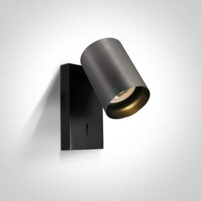 One Light Elatos kinkiet 1x10W szary metaliczny/czarny 65105NA/MG