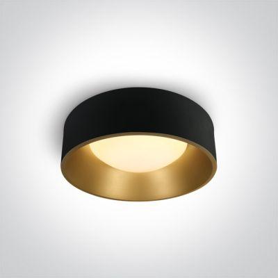 One Light Asteri plafon 1x30W czarny/mosiądz 67452/B/W