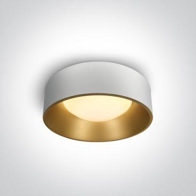 One Light Asteri plafon 1x30W biały/mosiądz 67452/W/W