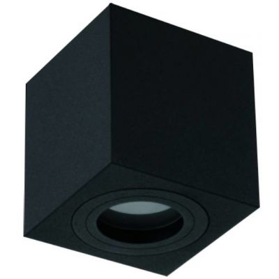 Orlicki Design Lago Nero IP44 lampa podsufitowa 1x8W czarna 5903689782173