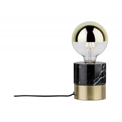 Paulmann Neordic Vala lampa stołowa 1x20W mosiądz satynowany/marmur 79742