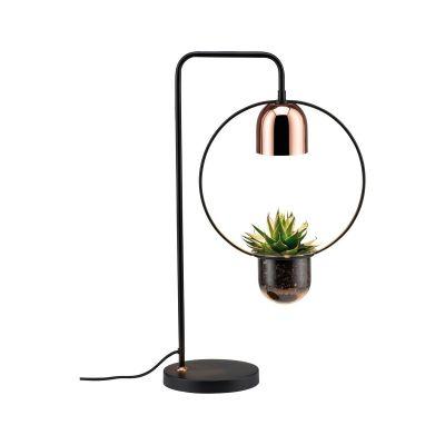 Paulmann Neordic Fanja lampa stołowa 1x20W czarny/miedziany 79746
