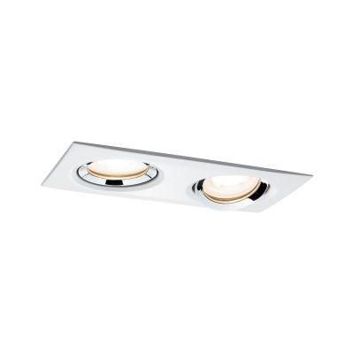 Paulmann Nova Premium lampa do zabudowy 2x7W biały mat/chrom 92902
